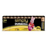 24 Piles AA LR06 Alcaline 1.5V DURACELL SIMPLY