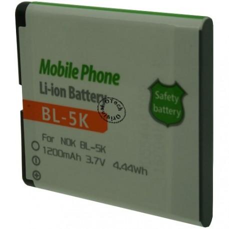 Batterie pour NOKIA BL-5K 3.7V Li-Ion 1200mAh