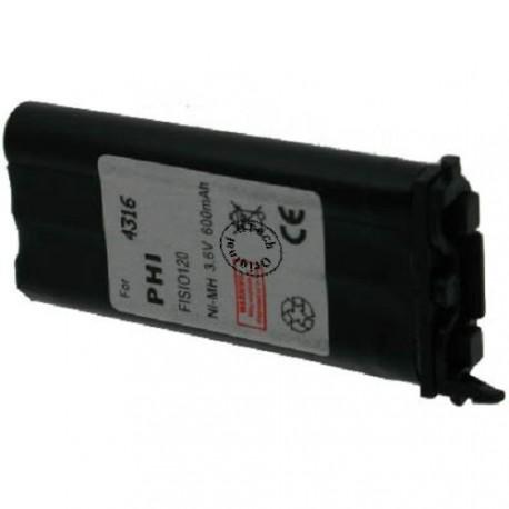 Batterie pour PHILIPS LIPS FISIO 120 / 121 3.6V Ni-Mh 600mAh