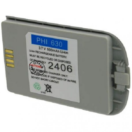 Batterie pour PHILIPS LIPS 630 3.6V Li-Ion 500mAh
