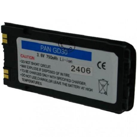 Batterie pour PANASONIC GD30 3.6V Li-Ion 750mAh