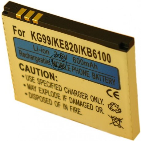 Batterie pour LG KG99 3.6V Li-Ion 600mAh