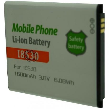 Batterie pour SAMSUNG I8530 3.8V Li-Ion 1600mAh