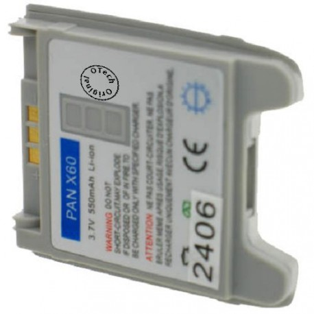 Batterie pour PANASONIC X60 3.7V Li-Ion 550mAh