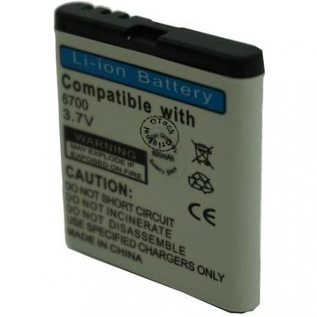 Batterie pour NOKIA 6700 3.7V Li-Ion 800mAh