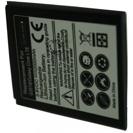 Batterie pour SAMSUNG G3518 / Galaxy Core LTE 3.8V Li-Ion 2000mAh