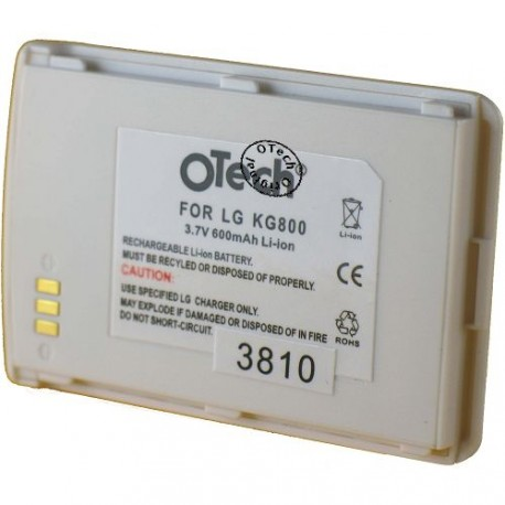 Batterie pour LG KG800 white 3.7V Li-Ion 600mAh