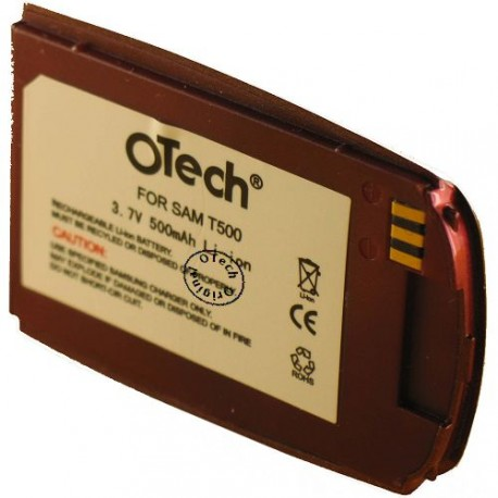 Batterie pour SAMSUNG T500 red 3.6V Li-Ion 500mAh