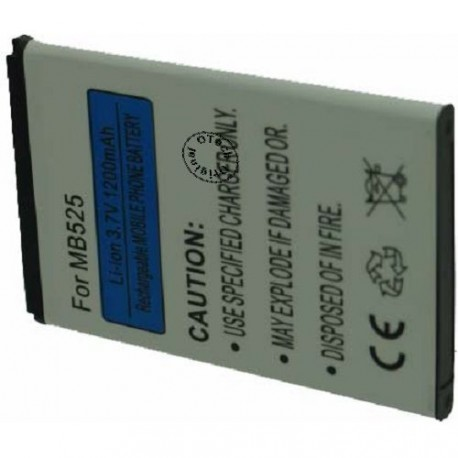 Batterie pour MOTOROLA MB525 / XT862 / BF5X 3.7V Li-Ion 1000 / 13000mAh