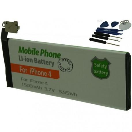 Batterie pour iPhone 4 3.8V Li-Ion 1500mAh avec 8 outils