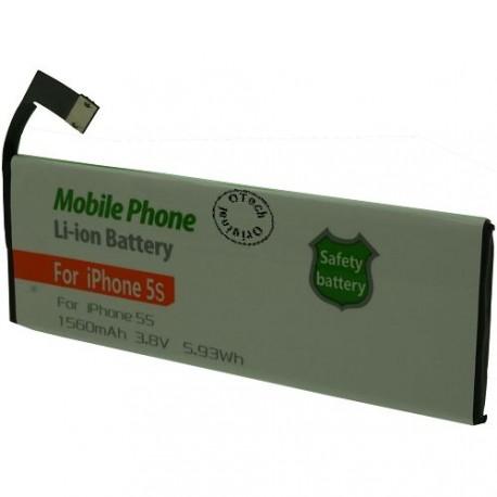 Batterie pour iPhone 5s 612-0610 3.8V Li-Lion 1560mAh sans outils