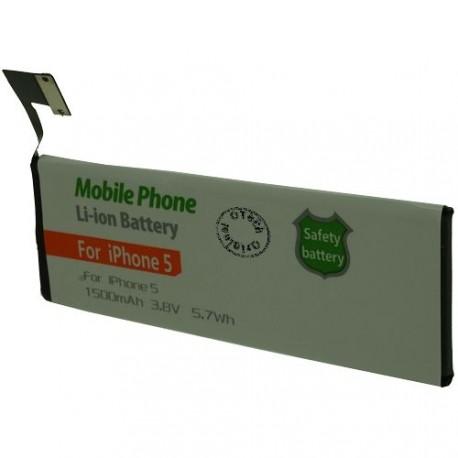 Batterie pour iPhone 5 616-0610 3.8V Li-Ion 1500mAh sans outils