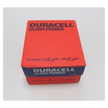 Carton de 20 piles LR14 DURACELL Ultra Power