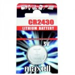 Pile bouton CR2430 Lithium 3V MAXELL