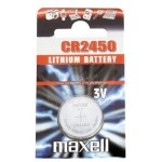 Pile bouton CR2450 Lithium 3V MAXELL