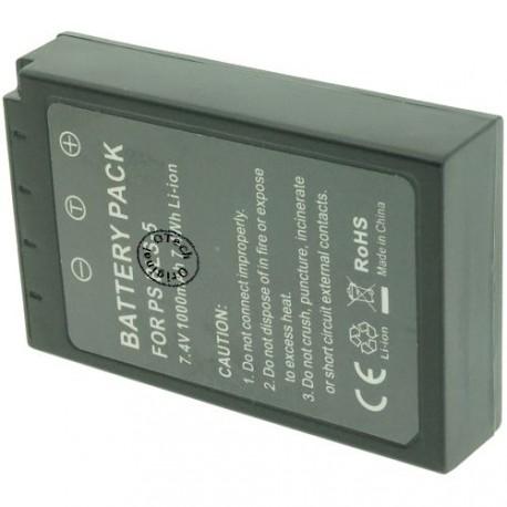 Batterie pour OLYMPUS PS BLS-5 7.4V Li-Ion 1000mAh