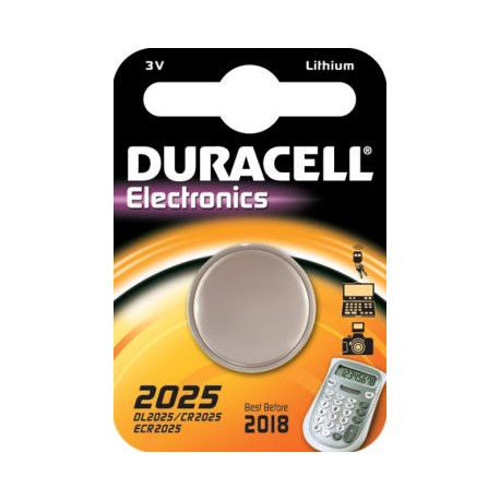 Pile bouton CR2025 Lithium 3V DURACELL