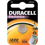 Pile bouton CR1220 Lithium 3V DURACELL