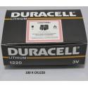 Carton de 100 piles boutons CR1220 3V Lithium DURACELL