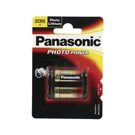 Pile Photo 2CR5 Lithium 6V Panasonic