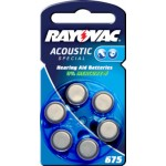 6 Piles auditives Rayovac A675 Acoustic Special