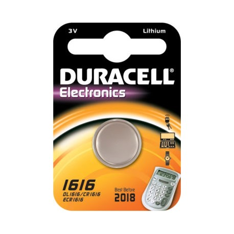 Pile bouton CR1616 Lithium 3V DURACELL