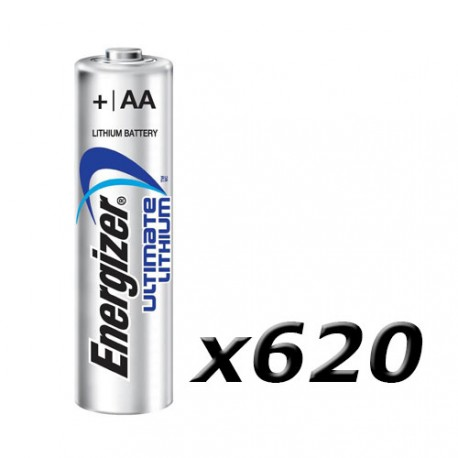 Boite de 620 piles AA L91 Lithium plateau ENERGIZER