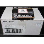 Carton de 100 piles boutons CR2032 3V Lithium DURACELL