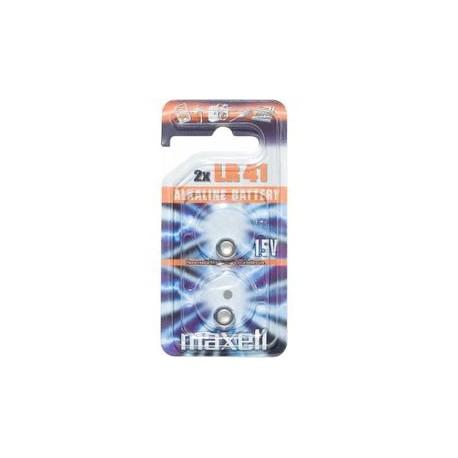 2 Piles bouton LR41 192 1,5V Alcaline MAXELL