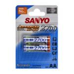 Piles rechargeables AA 2700 Sanyo par 2 - HR-3U-2BP
