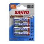 Piles rechargeables AA 2700 Sanyo par 4 - HR-3U-4BP