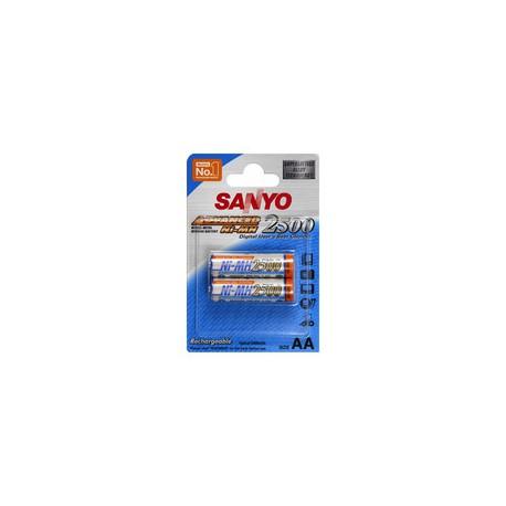 Piles rechargeables AA 2500 Sanyo par 2 - HR-3U-2BP