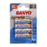 Piles rechargeables AA 2500 Sanyo par 4 - HR-3U-4BP