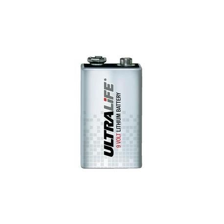 Pile alarme 9V Ultralife Lithium équivalence BATLI10