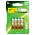 4 Piles AAA LR03 Alcaline 1.5V GP