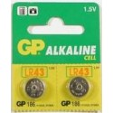 2 Piles bouton LR43 186 Alcaline