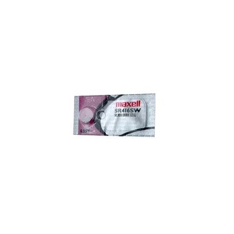 Pile bouton SR416SW 337 SR 4mm 1,55V Oxyde d\'argent MAXELL