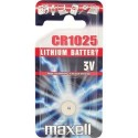 Pile bouton CR1025 Lithium 3V MAXELL