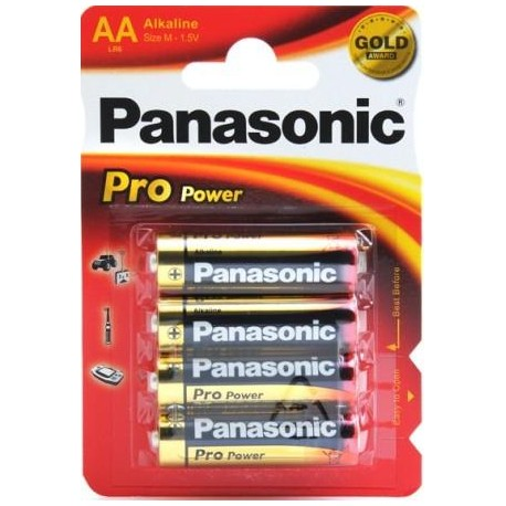 4 Piles AA 1,5V Pro Power PANASONIC