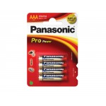 4 Piles AAA 1,5V Pro Power PANASONIC
