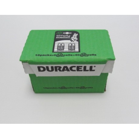 Carton de 40 piles AAA DURACELL Simply