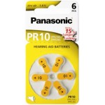 6 Piles Auditive PR10 1,4V PANASONIC