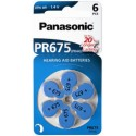 6 Piles Auditive PR675 1,4V PANASONIC
