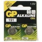 2 Piles bouton LR55 191 Alcaline