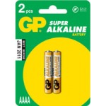 2 Piles AAAA LR61 Alcaline 1.5V GP