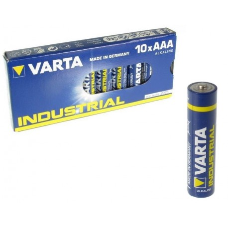 10 Piles AAA LR03 VARTA Industrial