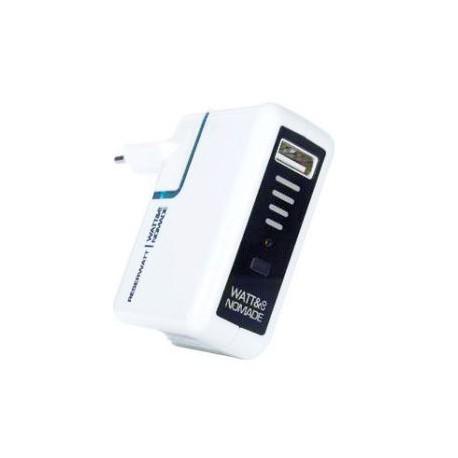 Chargeur USB Nomade avec batterie 1000mA RESERWATT