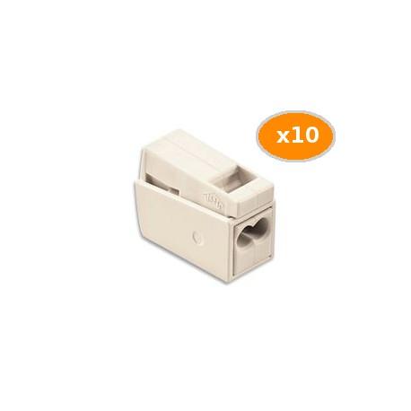 10 Bornes WAGO pour Luminaires 2.5mm2 2 rigides 1 souple 105 BLC