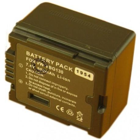 Batterie pour PANASONIC VW-VBG130 7.4V 1400mAh