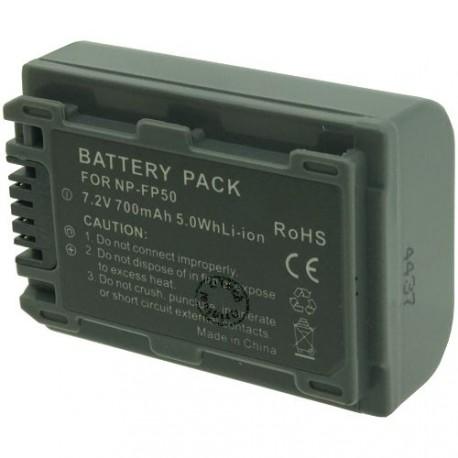 Batterie pour NP-FP50 Grey 7.2V Li-Ion 700mAh
